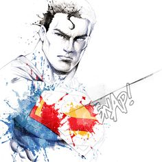 Superman by David Despau i don't like super-man but this art is cool, and i named this board comic EVERYTHING...
