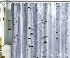 Shower curtains on pinterest shower curtains birches and bathroom