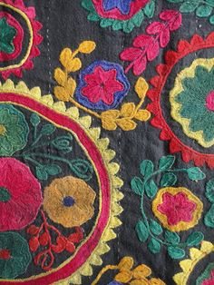 close up Embroidery from Central Asia