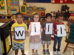 For making rhyming words, have letter cards that the kids can hold up and manipulate to spell the different words.