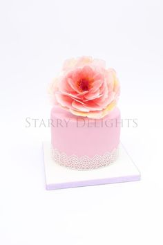 Rice Paper Peony Mother's day cake