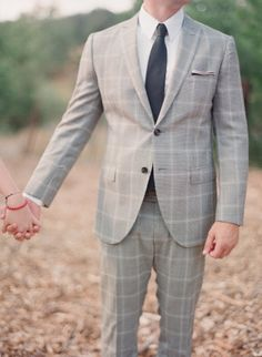 fitted, checked #suit for the groom | Photography by elizabethmessina.com  Read more - http://www.stylemepretty.com/2013/08/15/ojai-valley-rehearsal-dinner-from-elizabeth-messina-photography/
