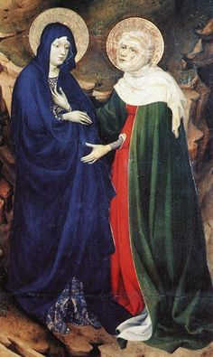 The Dijon Altarpiece  The Visitation (detail)  1393-99  Musee des Beaux-Arts, Dijon