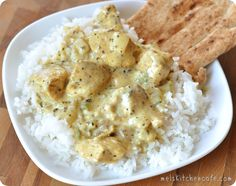 basil chicken in coconut curry sauce--with coconut milk