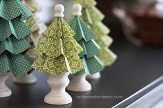 Folded paper trees. cute!
