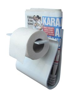 The Toilet Paper and Magazine Holder in One