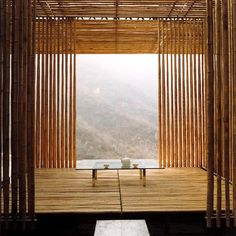 peaceful tea for two, house interiors, zen, tea houses, bamboo architecture, bamboo houses