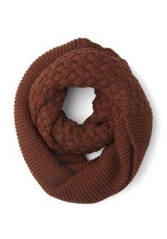 Circle scarf in rust.