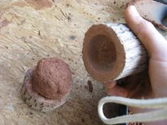 Making Clay Shot for your sling shot.    So... a sling and a mold for it pack? Hehee...