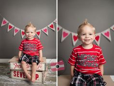 Valentine's Day Photography Prop Burlap Banner with Hearts. $26.00, via Etsy.