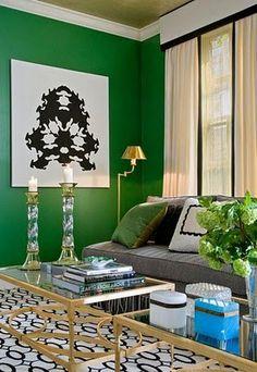 emerald green living room walls
