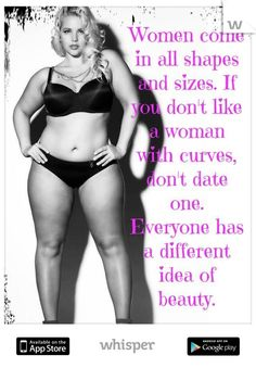 I love her body. Mine is just like it, and this gives me inspiration to lose the weight I am trying to! Woo!