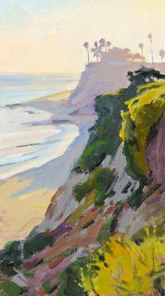 Marcia Burtt. Late Sun, Looking West. acrylic 18×10 inches