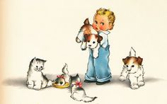From Collagecandy.blog -  1930's illustrations from a baby book