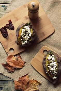 Sweet Potatoes Stuffed with Olives, Feta and Sundried Tomatoes