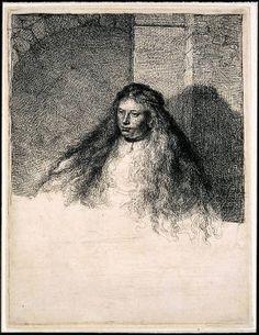 Rembrandt Etching 'The Great Jewish Bride'    rubylane.com