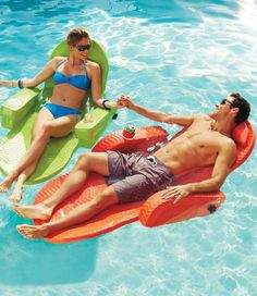 With our Deluxe Extra-wide Pool Chair, nearly anyone can float their cares away in spacious, squeeze-free comfort.