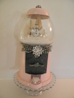 unexpected use for a gumball machine - snow globe!