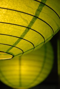 "16""  Chartreuse Green Paper Lanterns  $2.99  each /10 for $2.19 each"