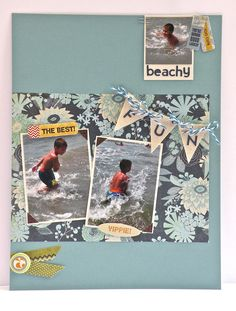 Beachy Fun Layout - Scrapbook.com