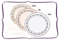 Fancy Circle Place card by Wendelline Papers