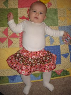 Fat Quarter Friday: Tiered Baby Skirt | Awaiting Ada