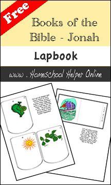 Free Books of the Bible - Jonah Lapbook - Homeschool Helper Online