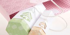Melvita - cool use of die cut sleeve on hexagonal package - student project