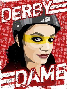 Derby Dame #rollerderby #derbydame #skating #skate