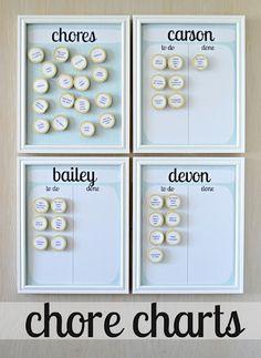 chore boards, idea, kids chore charts, organ, magnets