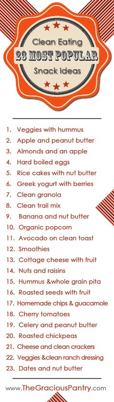 23 Healthy Snack Ideas