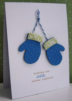 Stamping with Loll: Mittens & Warm Wishes