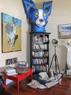 Giant papier-mache animal heads