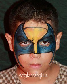 DIY Wolverine Face Paint #DIY #FacePainting #Halloween #Costumes #HalloweenCostume #Birthdays #Birthday #Party #Parties #SuperHero #SuperHeroes