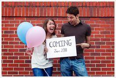 En www.Concibe.es nos encantan los anuncios originales de embarazo