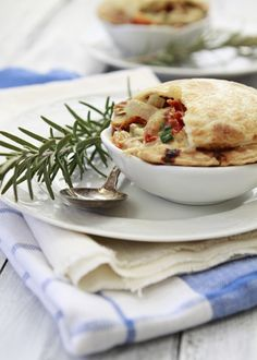 Individual Chicken and Vegetable Pot Pies.