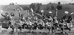 Farmerettes of the Woman's Land Army of America     Read more: http://www.smithsonianmag.com/history-archaeology/Before-Rosie-the-Riveter-Farmerettes-Went-to-Work.html#ixzz1utGibrGn