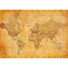 vintage maps, map vintag, world maps, vintag style, art posters