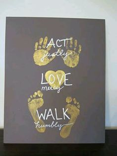 Love this for the kids room..using their own hand and foot prints!