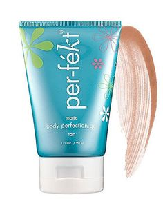 Perfekt Matte Body Perfection Gel Tan: The formula reduces the appearance of redness, bruises, and dry patches so your long limbs will look even lovelier in your favorite mini-skirt! $48; dermstore.com