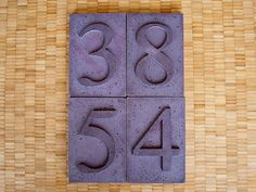 Step-by-step DIY Concrete House Number Instructions