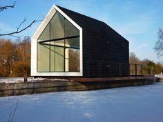 loosdrecht island house, frameweb