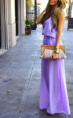 maxi dress : clutch- more inspiration