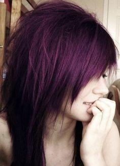 purple tinted black hair dye more hair ideas purple hair hair styles s ...