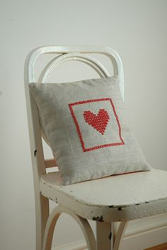 cross-stitch pillow