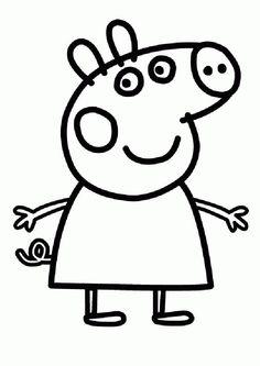 Dibujo para colorear de Peppa Pig (nº 5)
