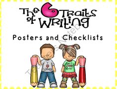 Writing Traits! Enter for your chance to win.  Writing Traits - Posters and Checklists (31 pages) from Inspire the Love of Learning on TeachersNotebook.com (Ends on on 10-25-2014)  These posters and student checklists can be used to help your students improve their writing.