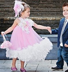 Infant, Toddler & Girls Feather Dress!  Perfect for weddings, pageants and photos!!