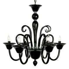 "Garth says ""Chandeliers are like jewelry for the home."" Calais Chandelier in Black, zgallerie.com #home #decor #design"