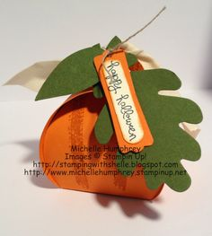 Stamping with Shelle: Happy Halloween Pumpkin Curvy Keepsake Box